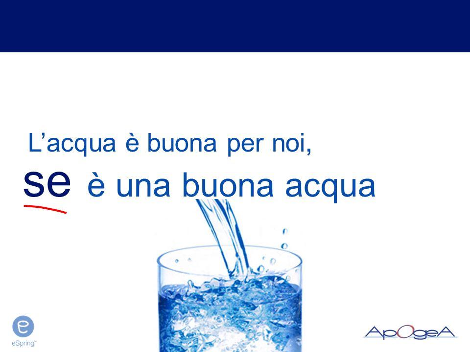 sistemi di trattamento dell'acqua QUALCUNO VUOL DARCELA A BERE