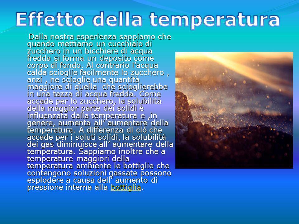 Effetto della temperatura