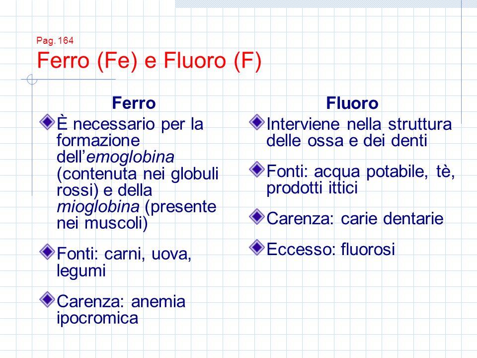 Pag. 164 Ferro (Fe) e Fluoro (F)