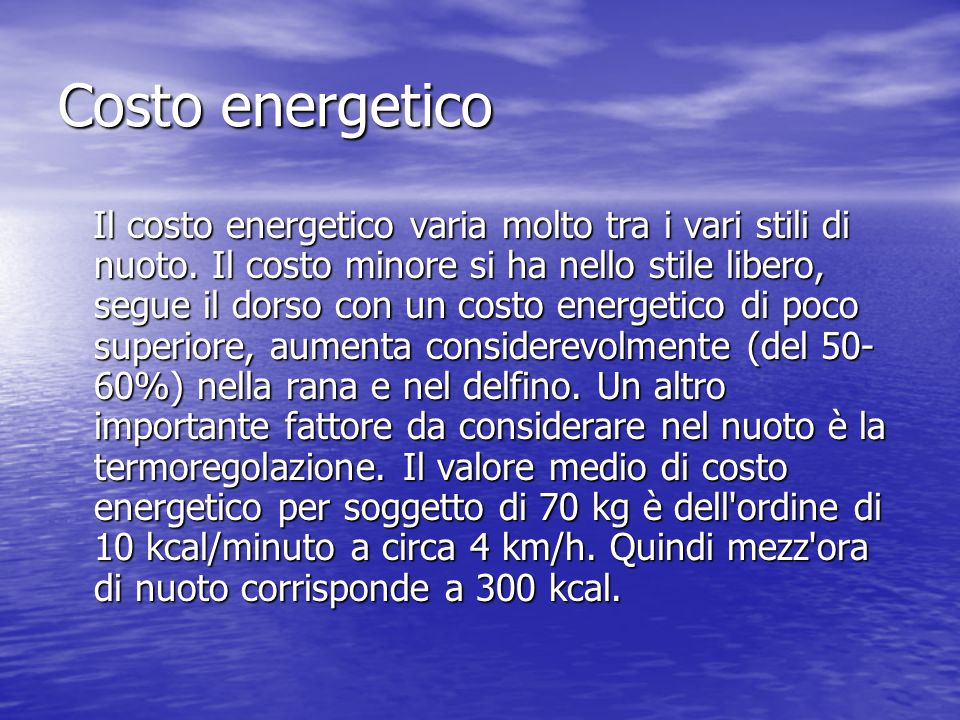 Costo energetico