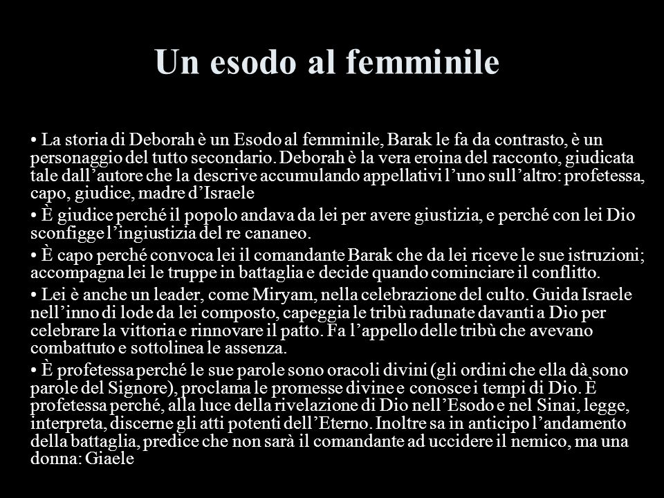 Un esodo al femminile