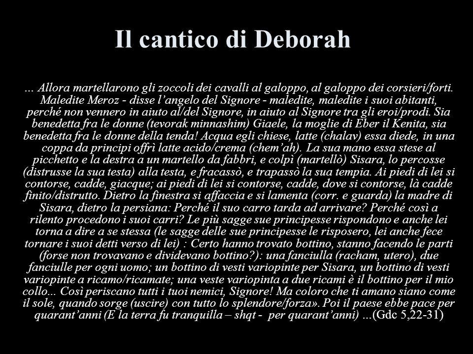 Il cantico di Deborah