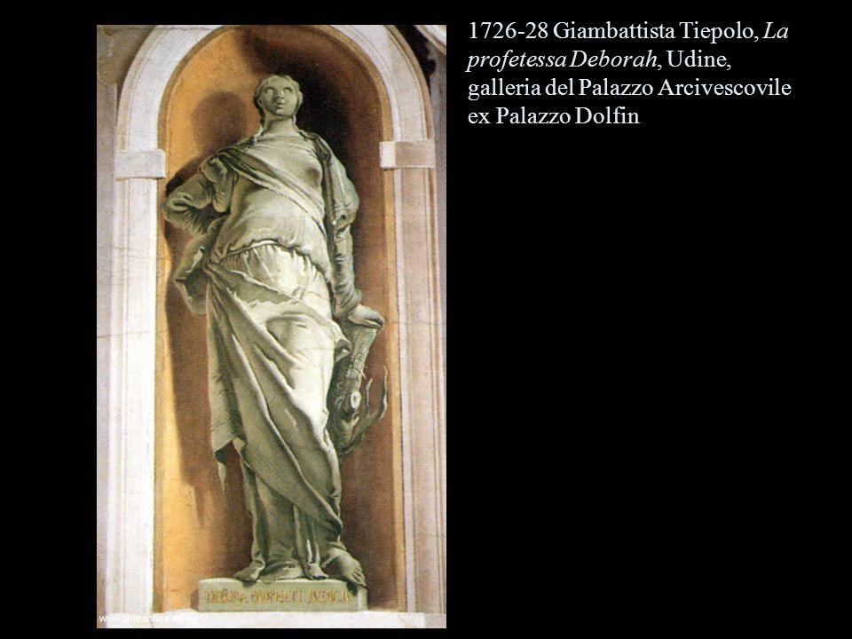 1726-28 Giambattista Tiepolo, La profetessa Deborah, Udine, galleria del Palazzo Arcivescovile ex Palazzo Dolfin