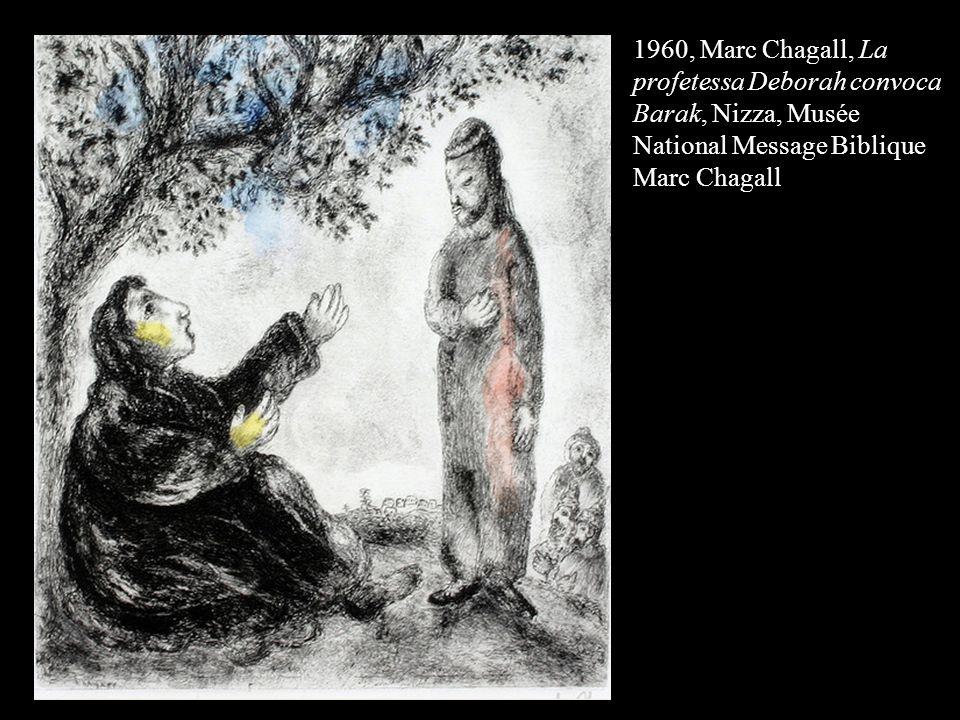 1960, Marc Chagall, La profetessa Deborah convoca Barak, Nizza, Musée National Message Biblique Marc Chagall