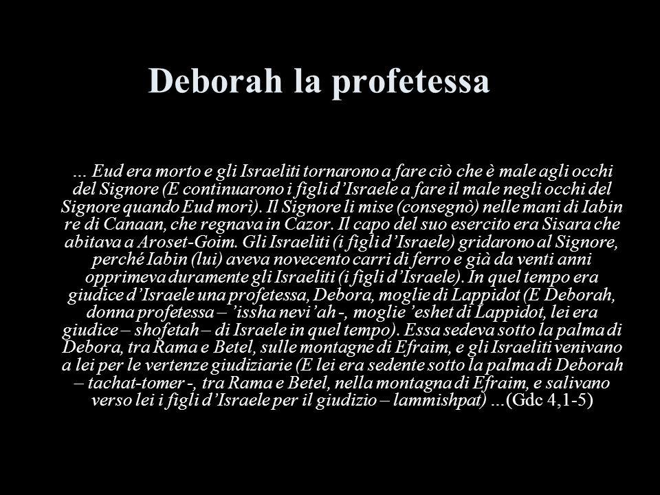 Deborah la profetessa