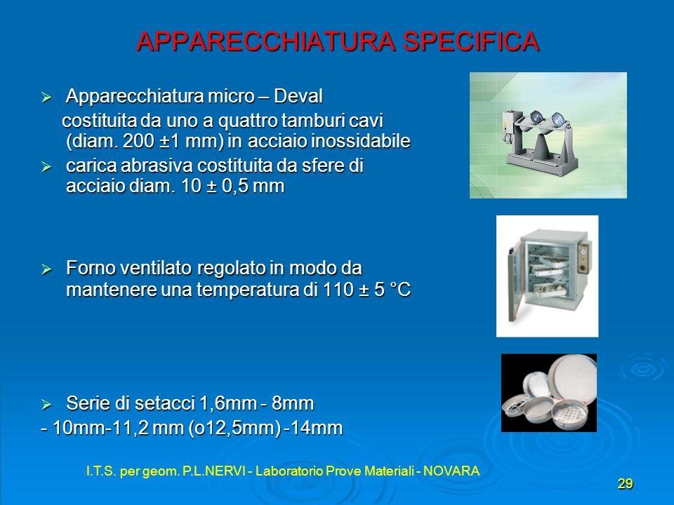 APPARECCHIATURA SPECIFICA