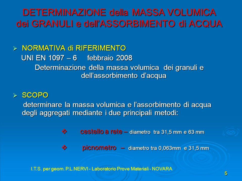I.T.S. per geom. P.L.NERVI - Laboratorio Prove Materiali - NOVARA