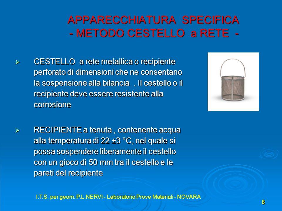 APPARECCHIATURA SPECIFICA - METODO CESTELLO a RETE -
