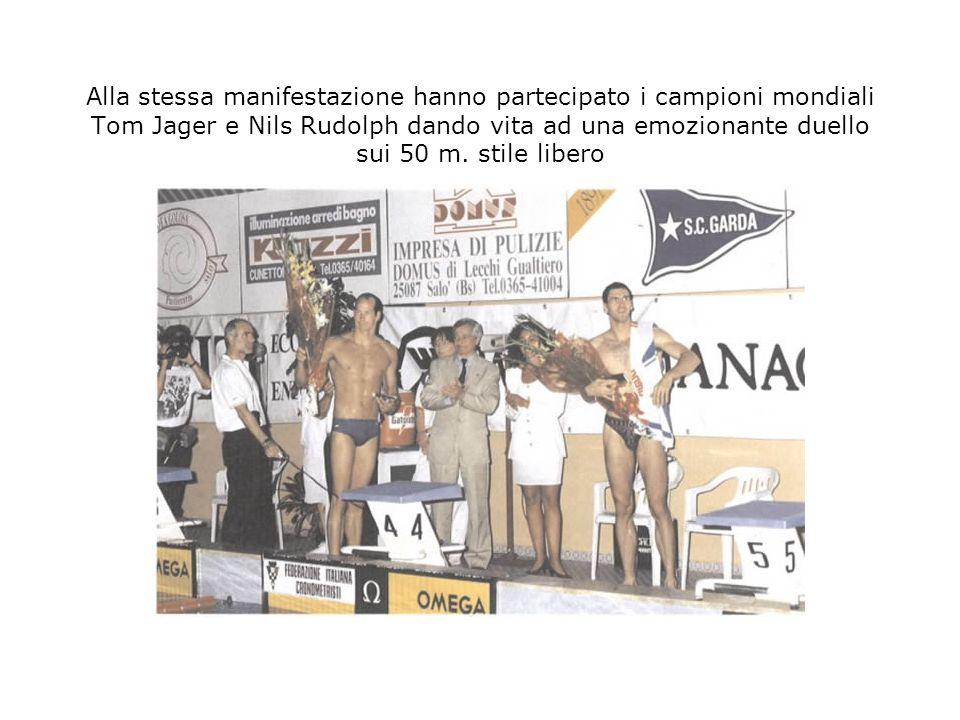 Alla stessa manifestazione hanno partecipato i campioni mondiali Tom Jager e Nils Rudolph dando vita ad una emozionante duello sui 50 m.
