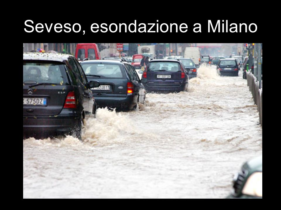 Seveso, esondazione a Milano