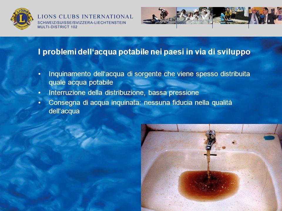 I problemi dell'acqua potabile nei paesi in via di sviluppo