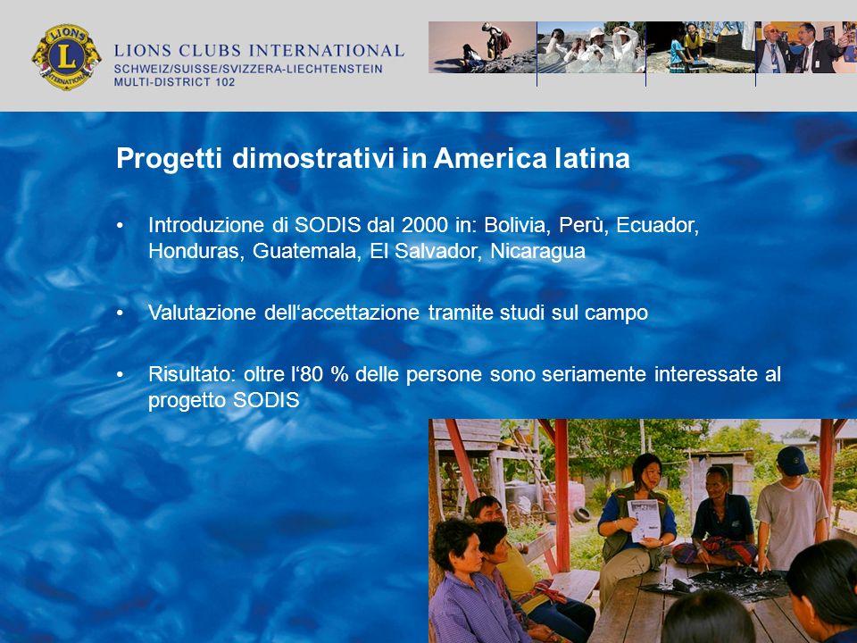 Progetti dimostrativi in America latina
