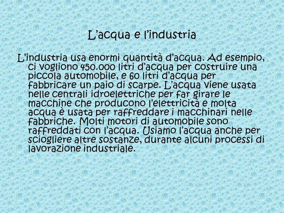 L'acqua e l'industria