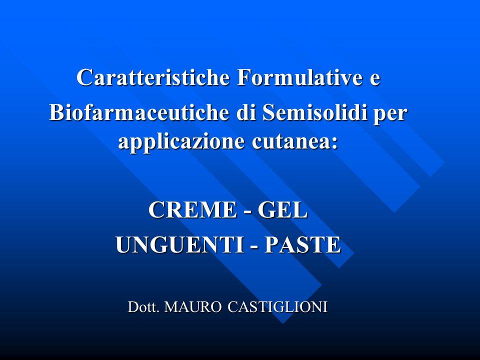 Caratteristiche Formulative e