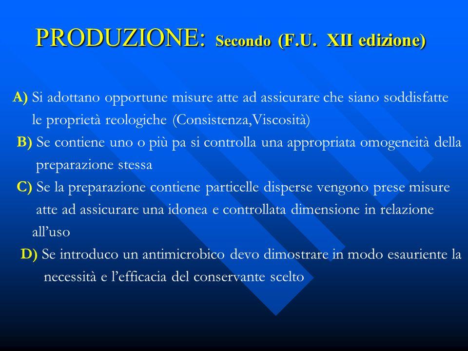 PRODUZIONE: Secondo (F.U. XII edizione)