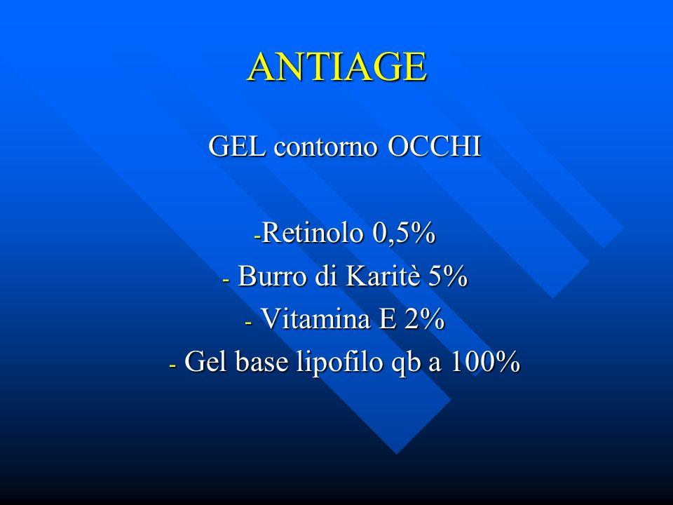 ANTIAGE GEL contorno OCCHI Retinolo 0,5% Burro di Karitè 5%