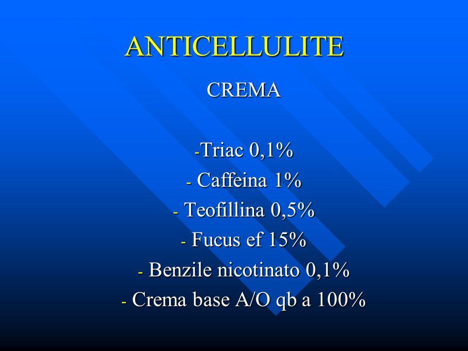 ANTICELLULITE CREMA Triac 0,1% Caffeina 1% Teofillina 0,5%