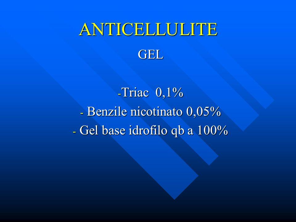 GEL Triac 0,1% Benzile nicotinato 0,05% Gel base idrofilo qb a 100%