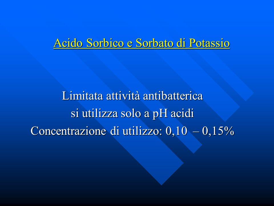 Acido Sorbico e Sorbato di Potassio