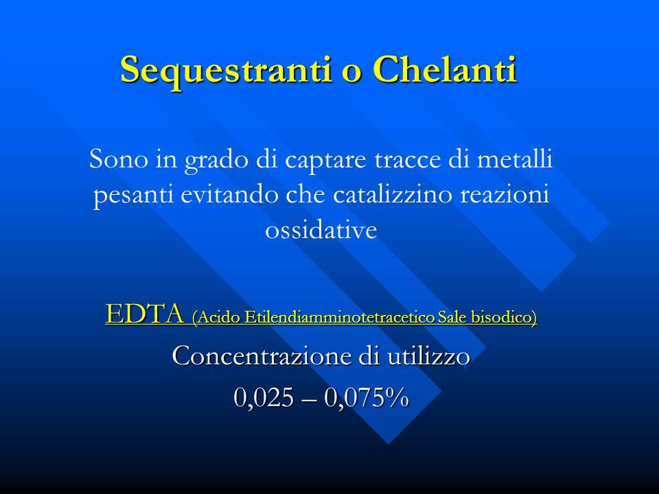 Sequestranti o Chelanti