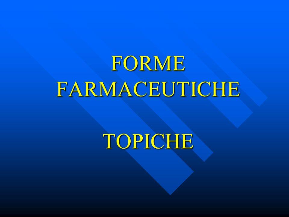 FORME FARMACEUTICHE TOPICHE