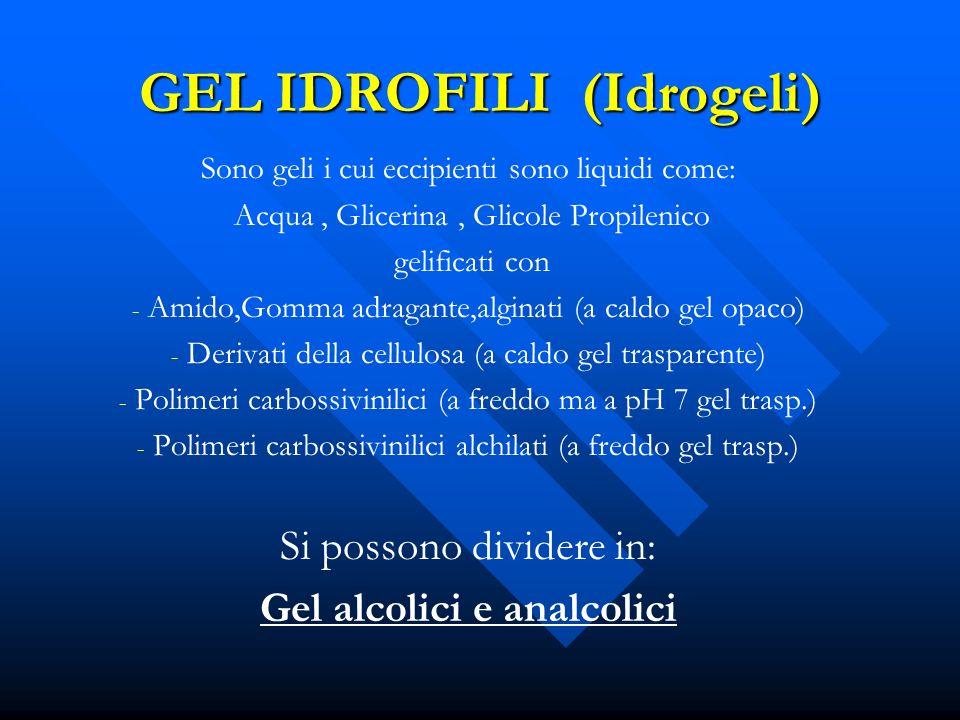 GEL IDROFILI (Idrogeli)