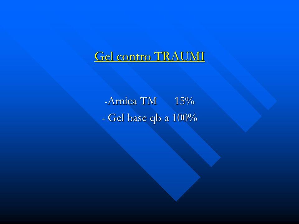 Arnica TM 15% Gel base qb a 100%