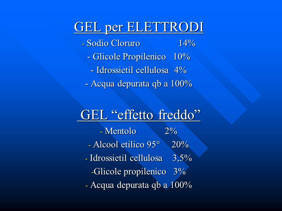 GEL per ELETTRODI GEL effetto freddo Sodio Cloruro 14%