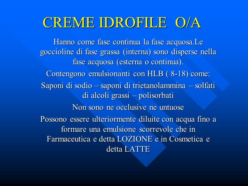 CREME IDROFILE O/A