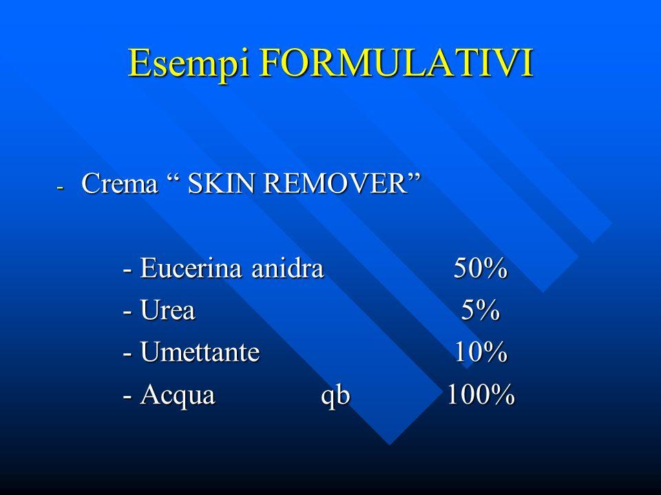 Esempi FORMULATIVI Crema SKIN REMOVER - Eucerina anidra 50%