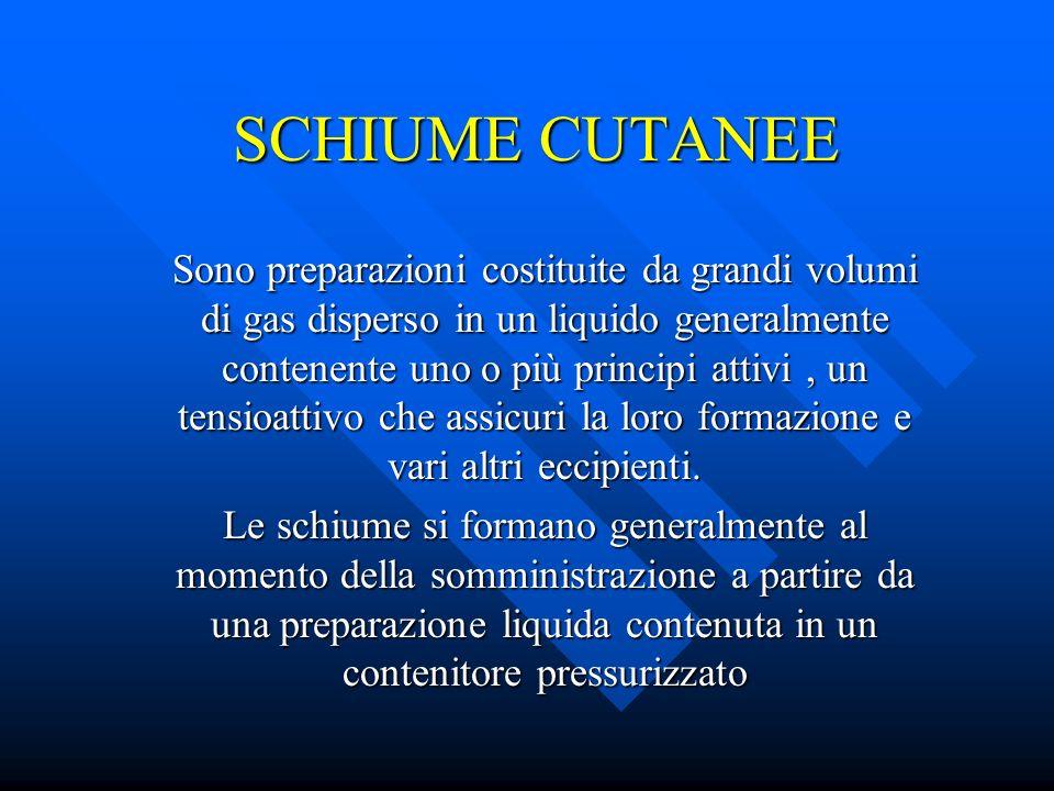 SCHIUME CUTANEE