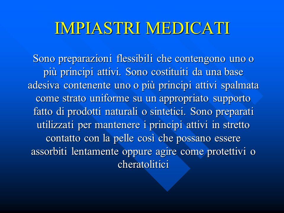 IMPIASTRI MEDICATI