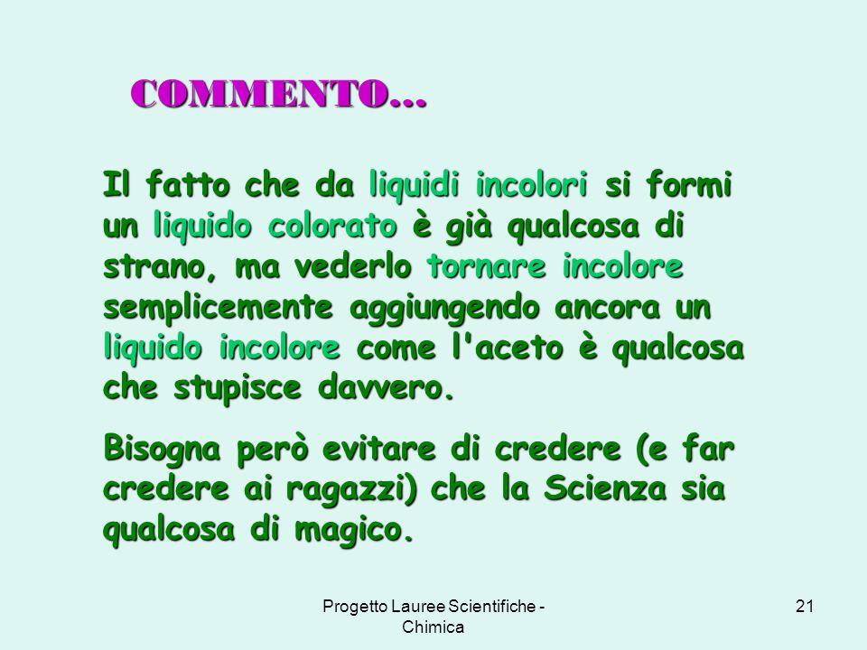 Progetto Lauree Scientifiche - Chimica