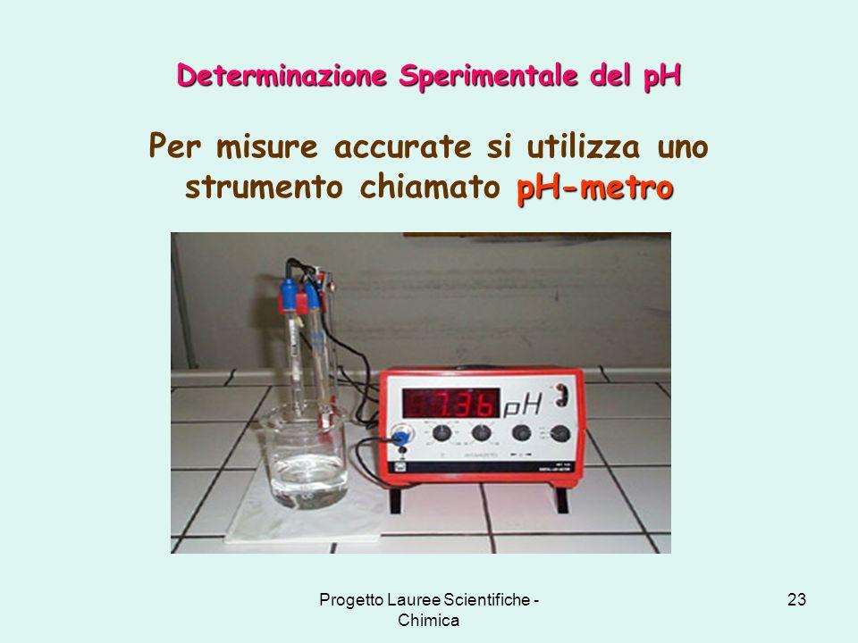 Per misure accurate si utilizza uno strumento chiamato pH-metro
