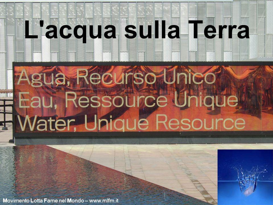 L acqua sulla Terra Movimento Lotta Fame nel Mondo – www.mlfm.it