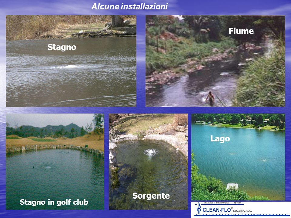 Alcune installazioni Fiume Stagno Lago Sorgente Stagno in golf club