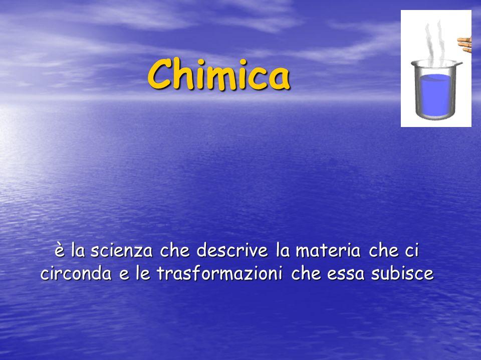 Chimica è la scienza che descrive la materia che ci circonda e le trasformazioni che essa subisce