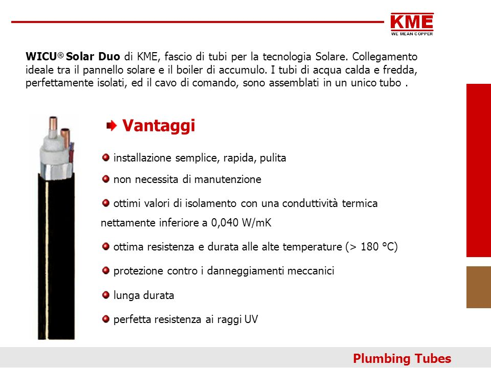 Vantaggi Plumbing Tubes