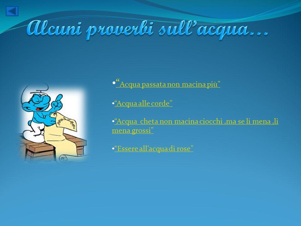Alcuni proverbi sull'acqua…