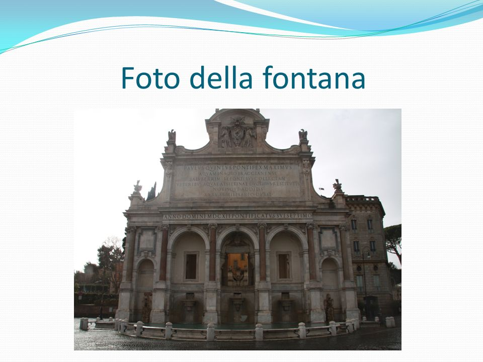 Foto della fontana