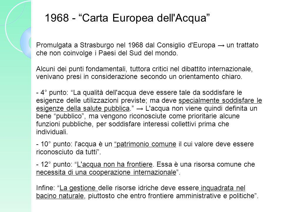 1968 - Carta Europea dell Acqua