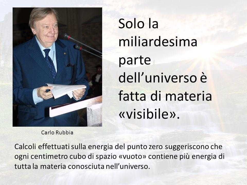 Solo la miliardesima parte dell'universo è fatta di materia «visibile».