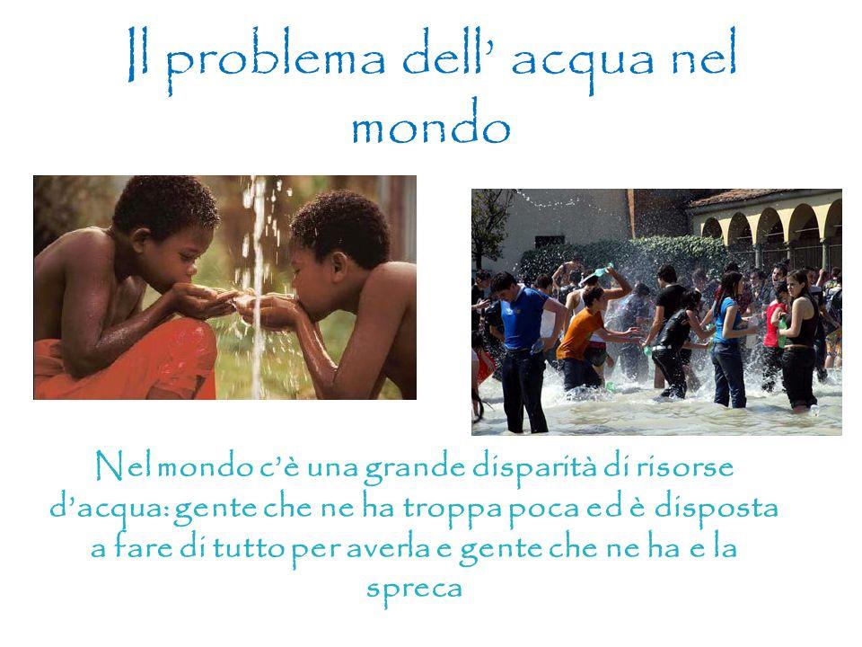 Il problema dell' acqua nel mondo