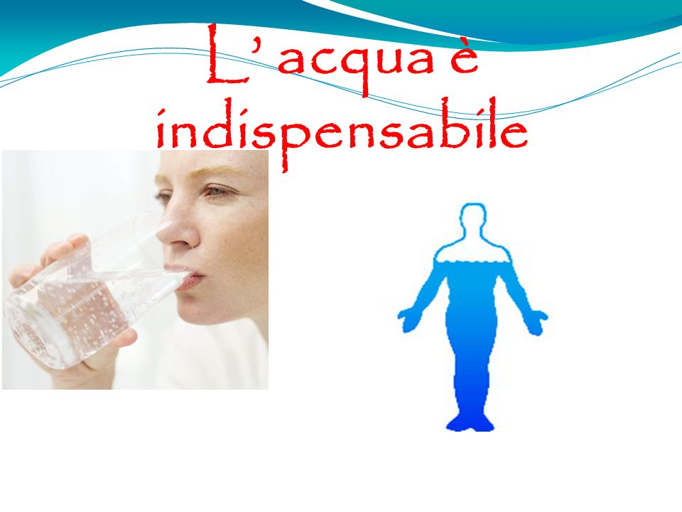 L' acqua è indispensabile