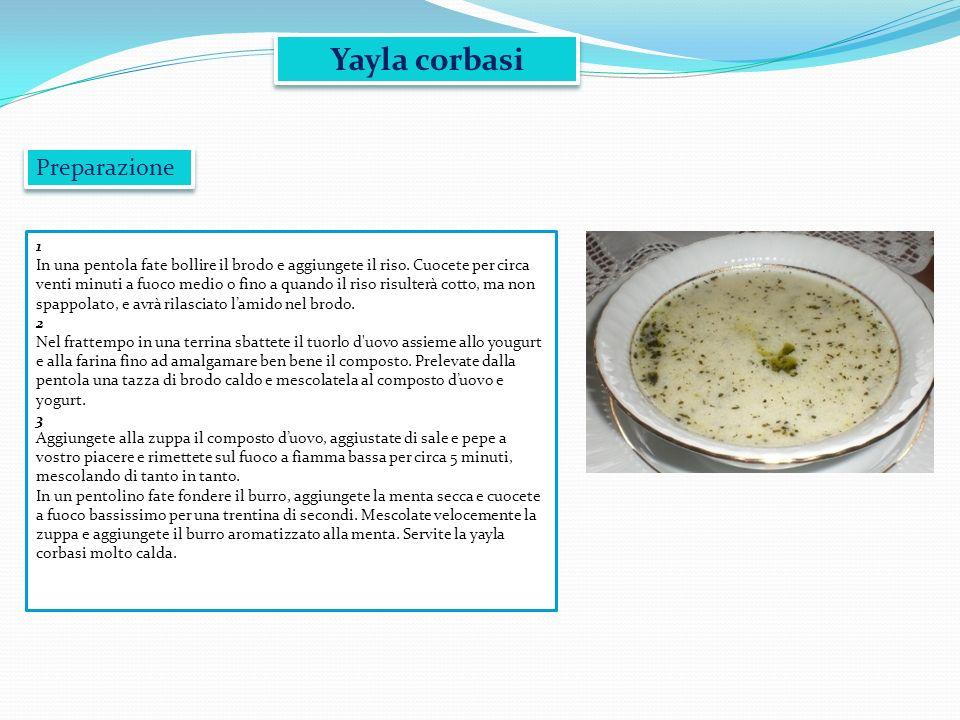 Yayla corbasi Preparazione 1