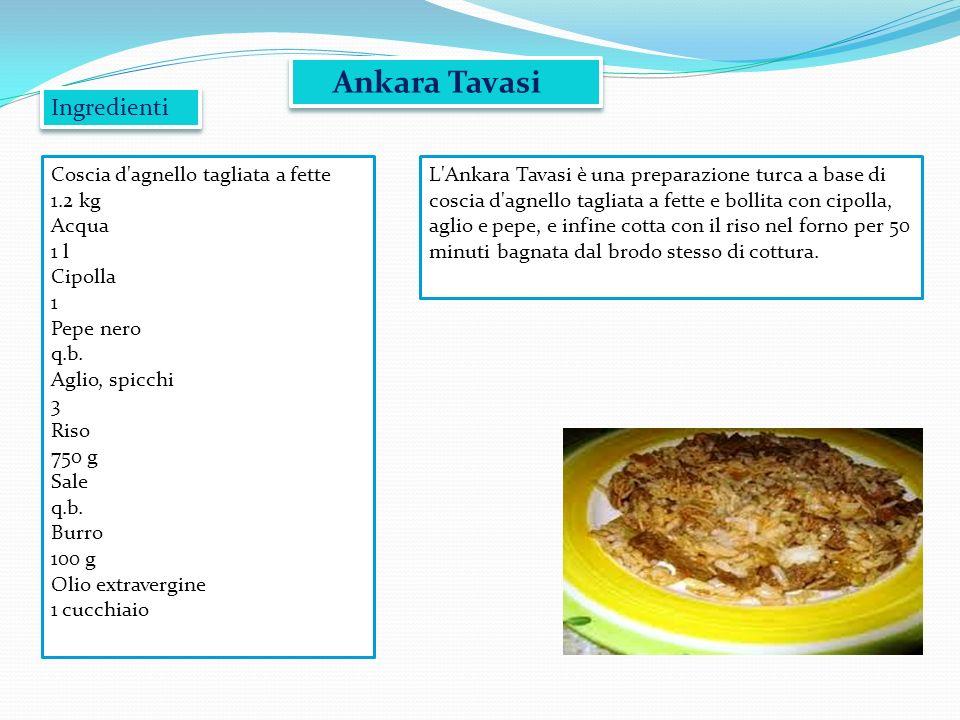 Ankara Tavasi Ingredienti Coscia d agnello tagliata a fette 1.2 kg