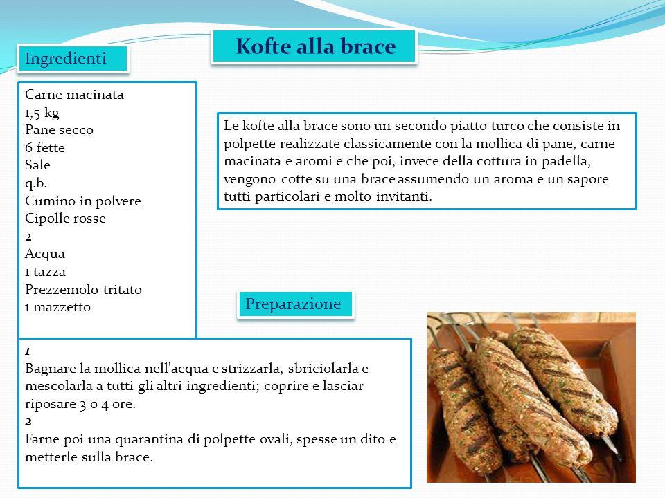 Kofte alla brace Ingredienti Preparazione Carne macinata 1,5 kg