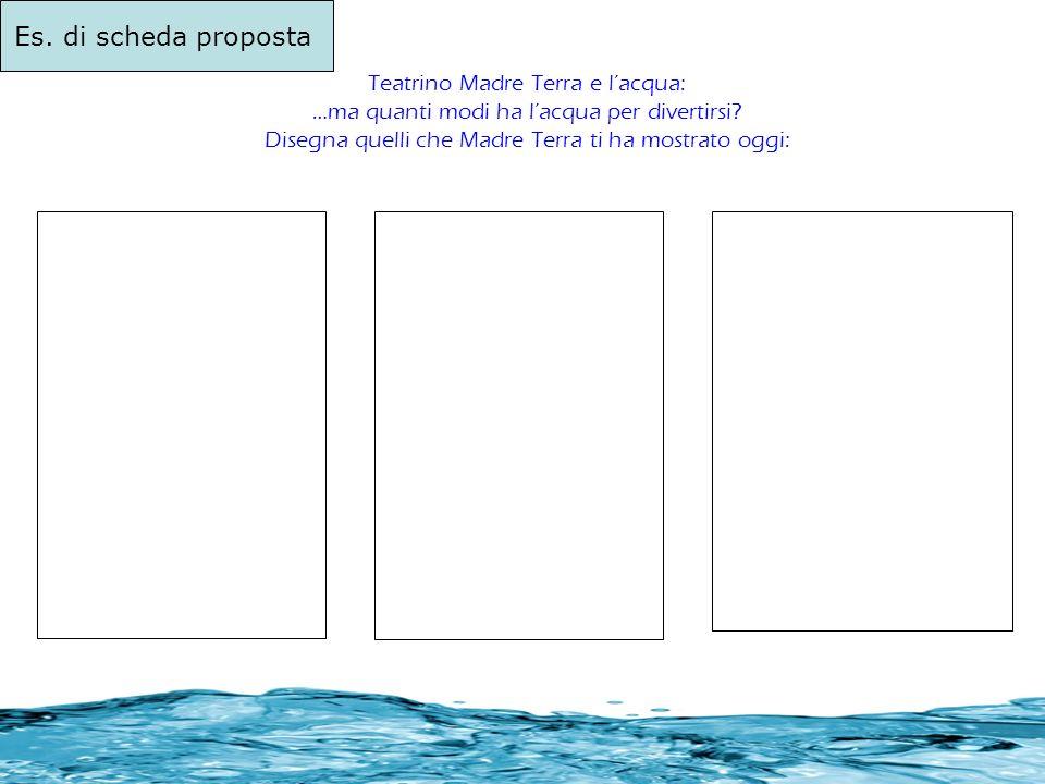 Es. di scheda proposta Teatrino Madre Terra e l'acqua: