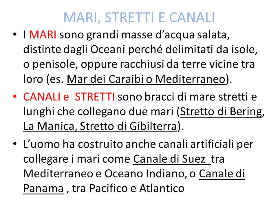 MARI, STRETTI E CANALI