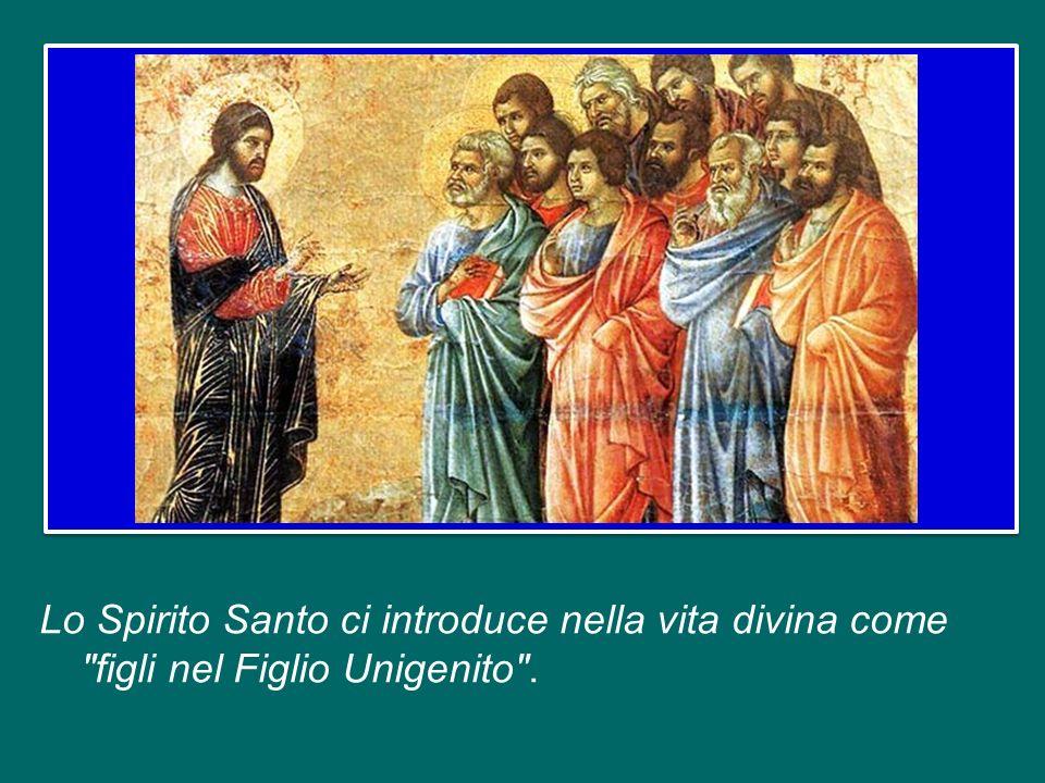 Lo Spirito Santo ci introduce nella vita divina come figli nel Figlio Unigenito .